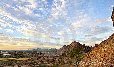 View of Valley of the Sun, Phoenix