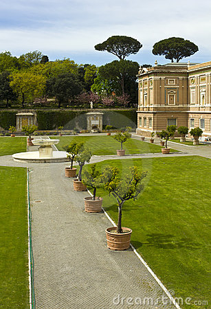 View at the Vatican Gardens