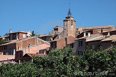 View of the village of Roussillon
