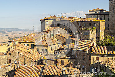 View of Volterra and landscape