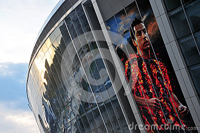 View on the wall Donbass Arena Editorial Photo