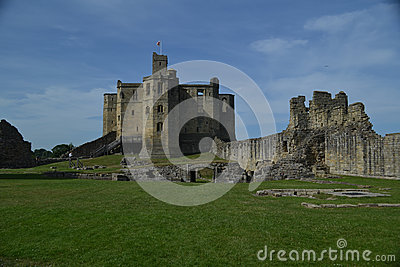View of Warkworth Castle, Northumberland