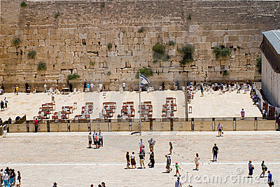 View Western Wall, Jerusalem, Israel Editorial Stock Image