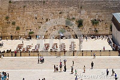 View Western Wall, Jerusalem, Israel Editorial Stock Image