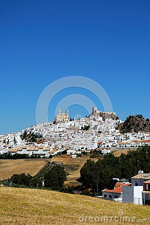White town, Olvera, Andalusia, Spain.