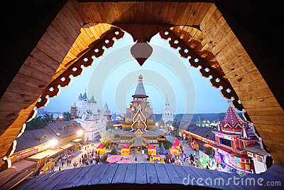 View from window at entertainment center Kremlin Editorial Image