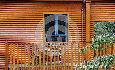 View on the window and veranda