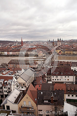 VIEW ON WUERZBURG AND OLD MAIN BRIDGE