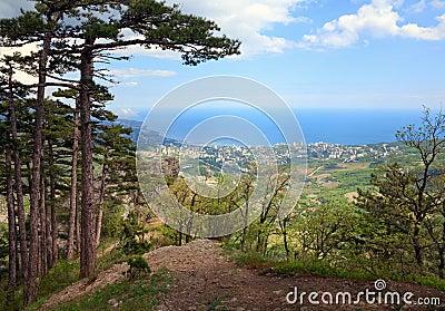 View of Yalta city (Ukraine)