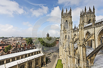 A View of York from York Minster Editorial Stock Image
