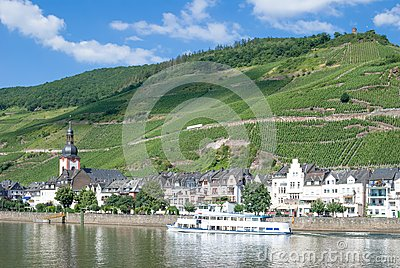 View of Zell,Mosel River,Mosel Valley,Germany
