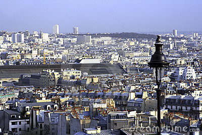 Viewing Paris from Montmartre