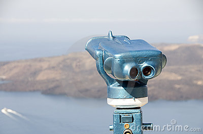 Viewing telescope binocular santorini greek island