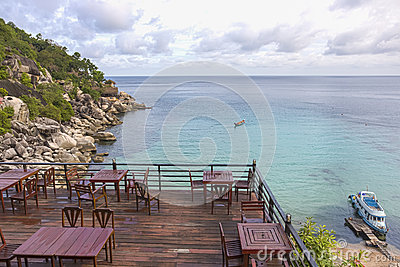 Viewpoint at Ao Muong Koh Tao in Thailand