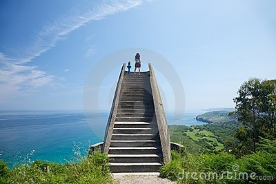 Viewpoint over Asturias coastline