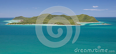 Viewpoint of sea and blue sky landscape, sattahip chonburi at th