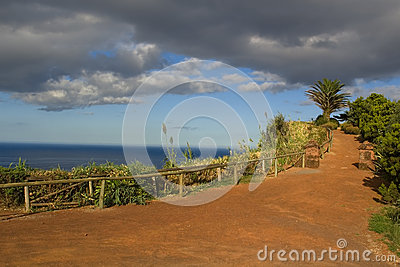 Viewpoint to the ocean at Nordeste, San Miguel, Azores