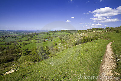 Views from Crickley Hill Country park near Gloucester