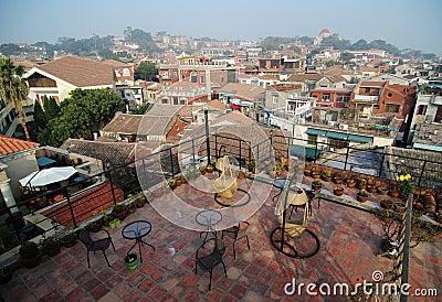 Views on housetop of Gulangyu island