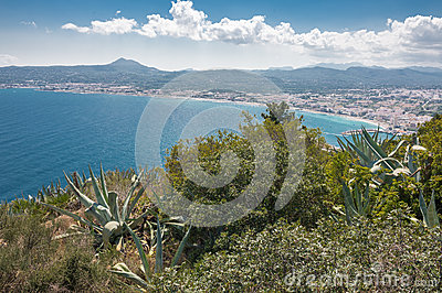 Views of Javea town from San Antonio Cape