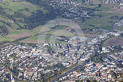 Views over Lienz in Austria