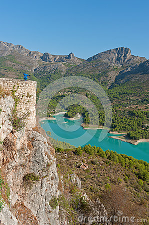Views of Reservoir of El Castell de Guadalest.