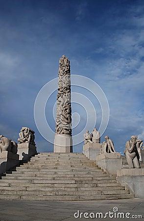 Vigeland sculpture park in Oslo, Norway