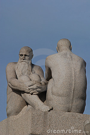 Vigeland sculpture park in Oslo, Norway