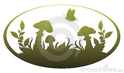 Vignette with mushrooms