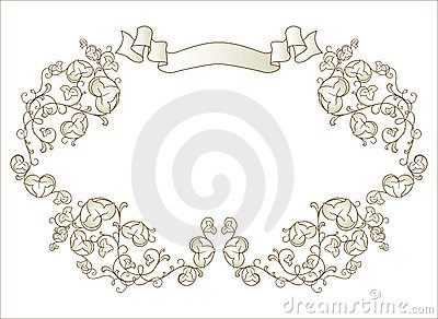 Vignette with ribbon