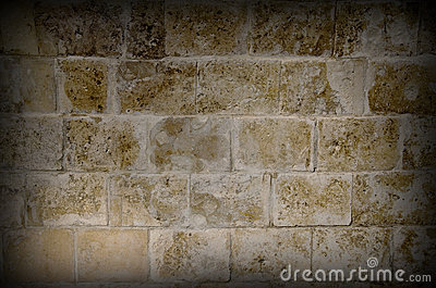 Vignetting image of olg stone wall