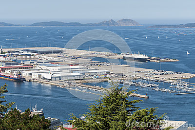 Vigo marina and port Editorial Photo