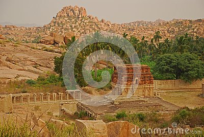 Vijayanagar, India. Ruïnes