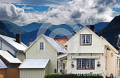 Vik - norvegian village