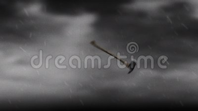 Viking Axe Flying en het Spinnen in de Lucht royalty-vrije illustratie