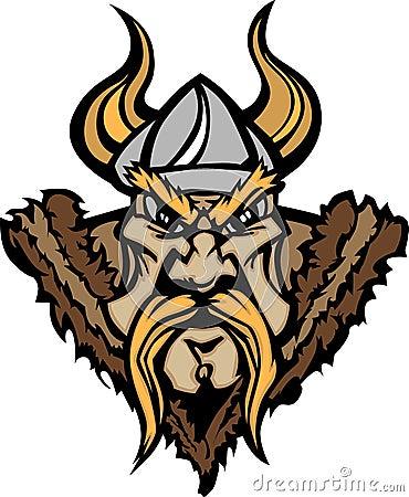 Viking / Barbarian Mascot Cartoon Logo