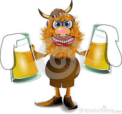 Viking with beer