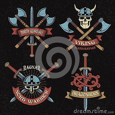 Free Viking Color Logo Stock Photography - 73868572
