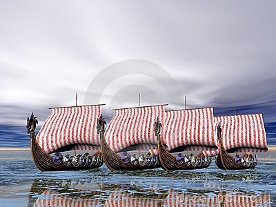 Viking Fleet of Ships