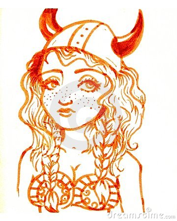 Viking girl illustration