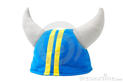 Viking hat, helmet, isolated