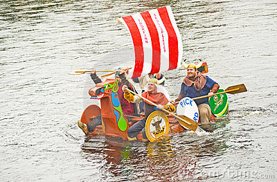 Viking invasion ? No raft race. Editorial Photography