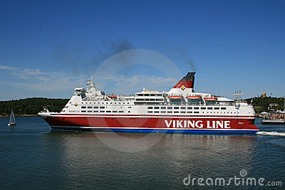 Viking Line ferry on Aland islands Editorial Photo