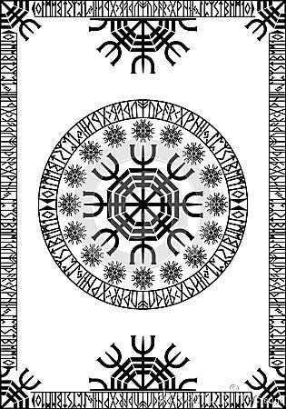 Viking runic panel