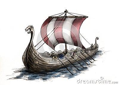 Viking ship 3 Stock Photo