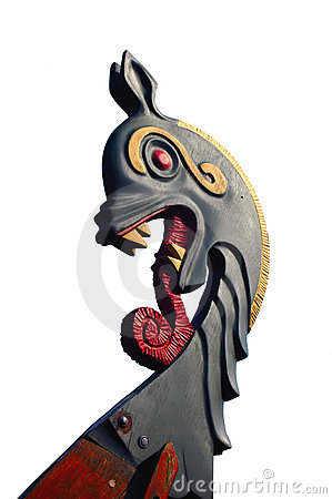 Free Viking Ship Dragon Head Isolated Royalty Free Stock Photo - 1233845