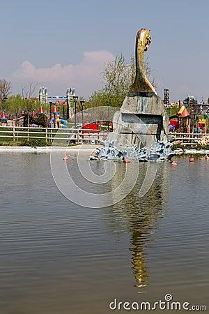 Viking ship in Europe Park