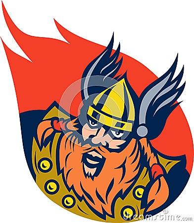 Viking warrior or norse god