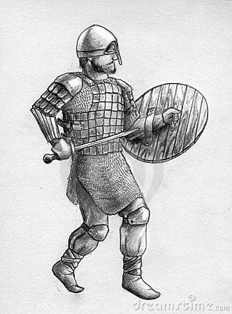 Viking warrior in scale armor