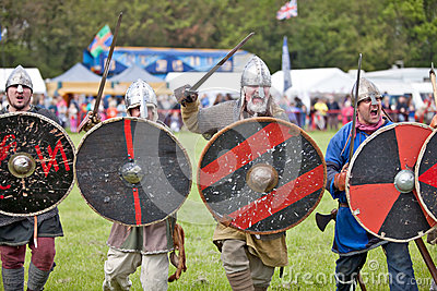 Vikings charge Editorial Stock Image